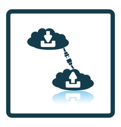 Cloud connection icon vector