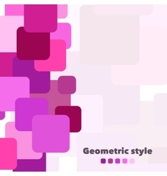 Abstract geometric background with place vector image vector image