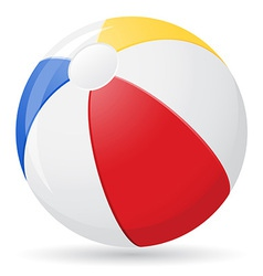beach ball 02 vector image vector image
