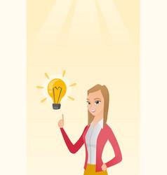 Business woman having business idea vector