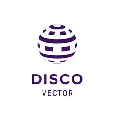 creative logo design template label with disco vector image vector image
