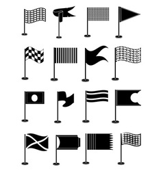 Flags icons set vector