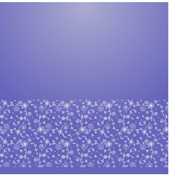 floral ornament border vector image