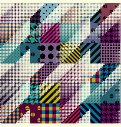 Geometrical patchwork pattern vector