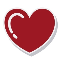 heart red love isolated icon vector image vector image