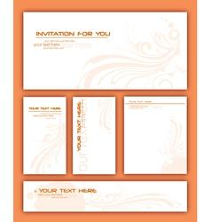 Invitation card vector