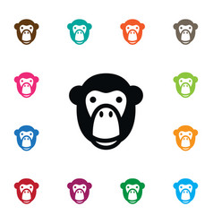 Isolated ape icon monkey element can be vector