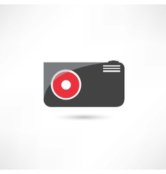 Little black camera icon vector image vector image