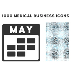 May calendar grid icon with 1000 medical business vector