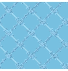 Ornamental seamless pattern with hearts vector image vector image