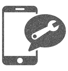 Phone service sms grainy texture icon vector
