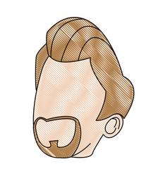Profile business man character male beard vector