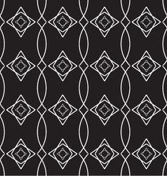 seamless geometric pattern monochrome vector image