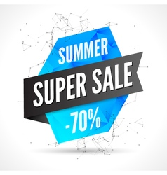 Summer Sale polygonal banner design template Sale vector image vector image