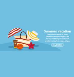 summer vacation banner horizontal concept vector image