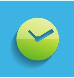 Time clock icon modern flat design vector image