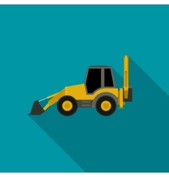 Tractor flat icon vector image vector image