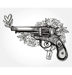 Vintage ornate pistol vector image vector image
