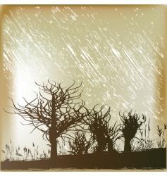winter rain vector image vector image