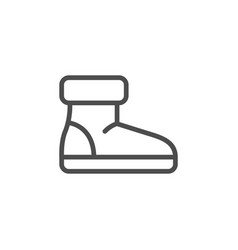 winter shoe line icon vector image vector image
