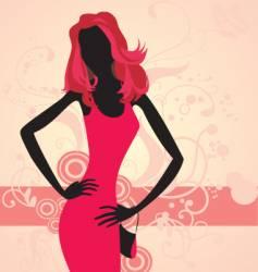 woman posing vector image
