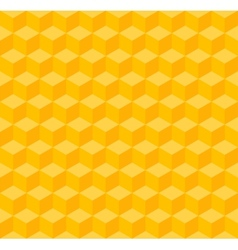 Yellow geometric seamless background vector image vector image