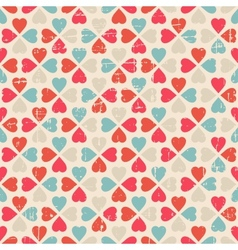 Seamless pattern of valentines day in retro style vector
