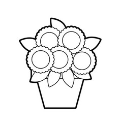 Potted flower decoration natural indoor vector