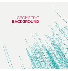 Abstract connect geometric background vector