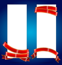 Banner with ribbon 002 vector