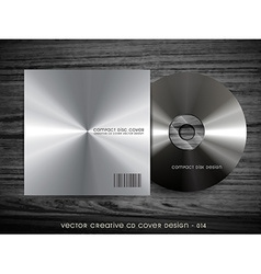 Metal cd cover vector
