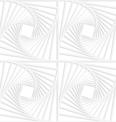 Paper white squares with inside swirling vector