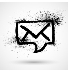 Mail envelope in speech bubble icon vector