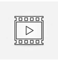 Video linear icon vector