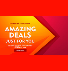 Amazing deals sale offer banner vector
