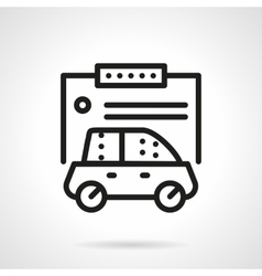 Automobile insurance form simple line icon vector