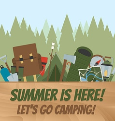 Camping equipment vector