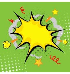 cartoon bang cartoon - boom comic book explosion vector image vector image