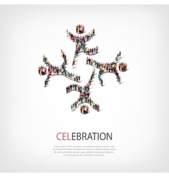 Celebration people sign 3d vector