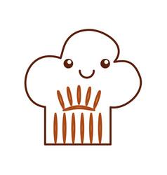 Chef hat kawaii character vector