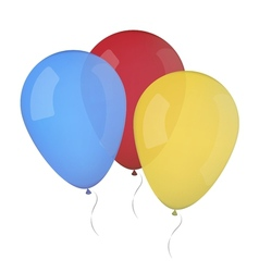 colored balloons isolated vector image