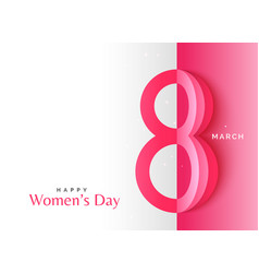 creative happy womens day background with origami vector image vector image