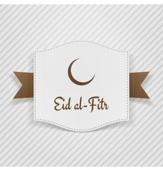 Eid al-fitr muslim greeting tag vector