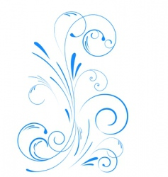 floral swirl ornament vector image vector image