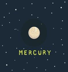 MERCURY space view vector image