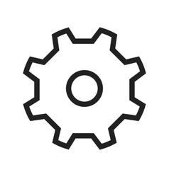 Metallic gear vector