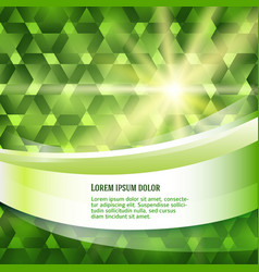 New product label green glowing background sun vector