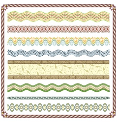 Pattern Border vector image vector image