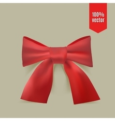 Realistic red bow vector image vector image
