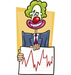 Stock analyst clown vector